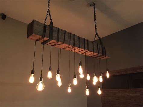 handmade lighting fixtures custom made reclaimed barn beam chandelier light fixture