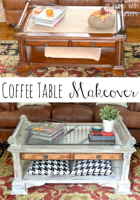 coffee table makeover at home with the barkers