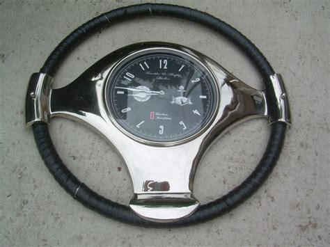 boat steering wheel leather old boat wheel steering wheel leather wrapping with chrome