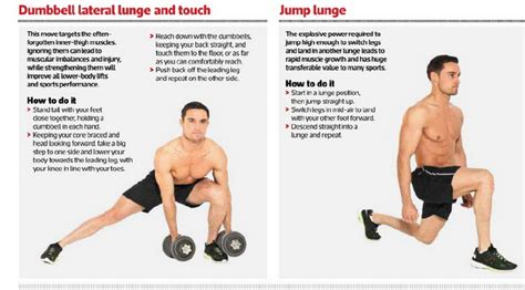 hamstrings workout dumbbell lateral lunge and touch jump