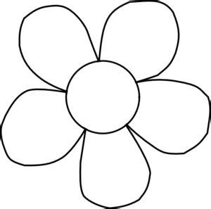 Simple flower outline clip art clipartfest