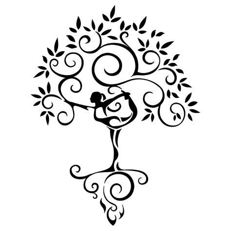 yoga tattoos tree