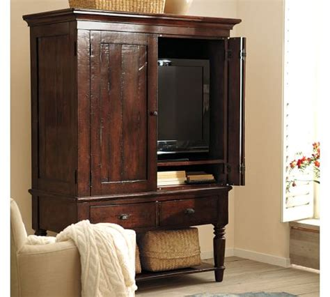 armoire media cabinet the rustic mason media armoire