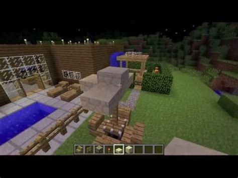 how to make a backyard and pool in minecraft