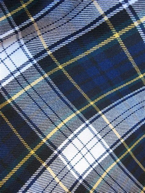 Tartan Navy Green sale navy white green plaid tartan fabric 1 by tumbleweedcottage