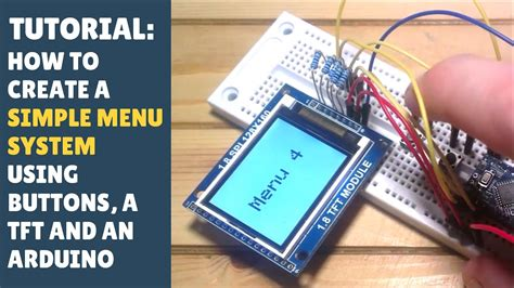 arduino tutorial menu tutorial how to create a simple menu system using buttons