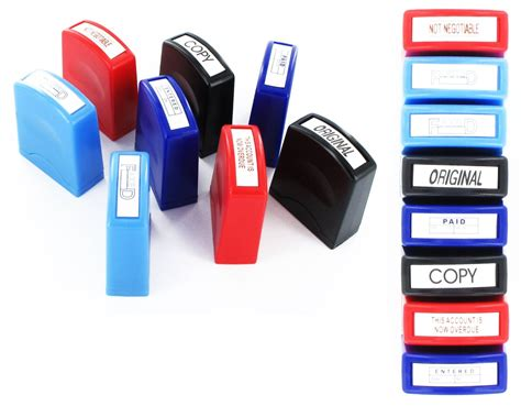 self inking rubber sts cheap set of 8 self inking office st ster in box copy paid
