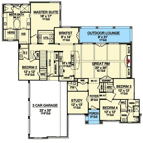 game room floor plans ideas game room and two bonus rooms 36432tx architectural