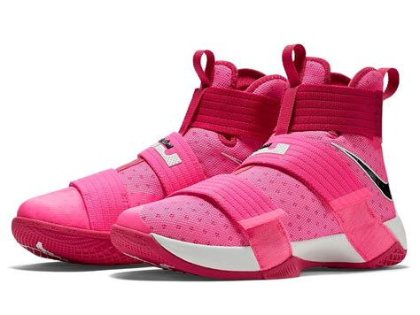 lebron shoes pink add quot think pink quot quot yow quot into the lebron soldier 10