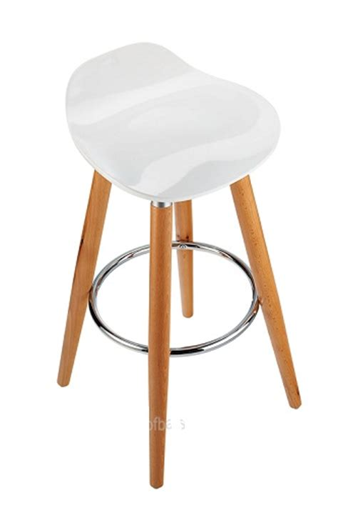 Fixed Bar Stools by Josephine Fixed Height Stool White