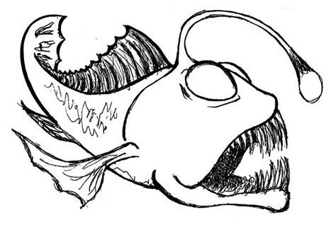 coloring pages angler fish angler fish drawing