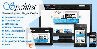 themeforest kode free download syahira premium responsive blogger template