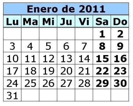 calendario del contribuyente enero 2011 mum is so cool calendario del mes de enero en san miguel