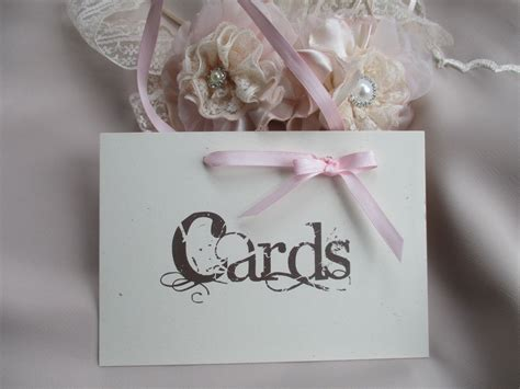 vintage style wedding cards wedding cards sign vintage style with ribbon hanger