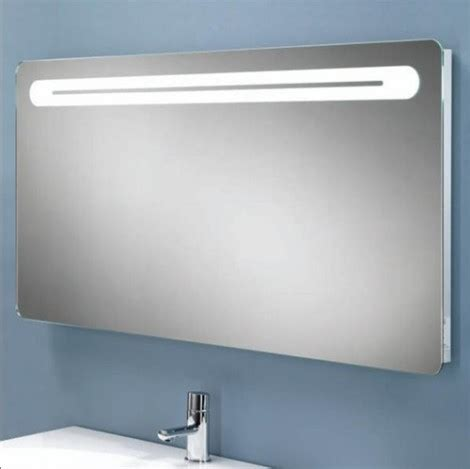 Hib Vortex Steam Free Backlit Mirror With Shaver Socket Illuminated Bathroom Mirror With Shaver Socket