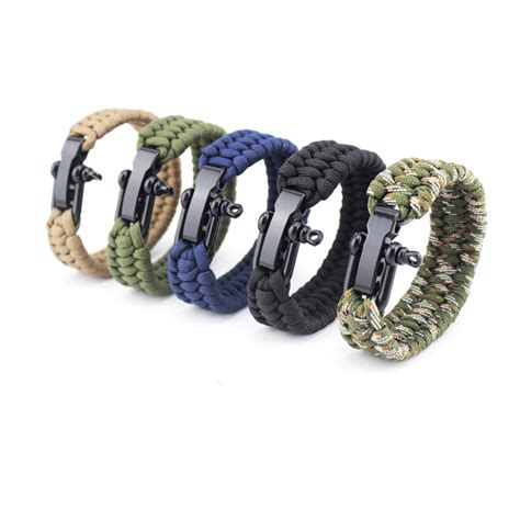 handmade weaved bracelet stainless steel survival