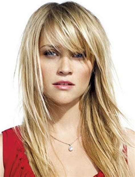 hairstyles for fine hair bangs medium hairstyles with bangs for women over 40 with fine
