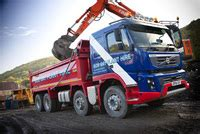 fmx tipper  south wales joins bob gay plant hire fleet easier