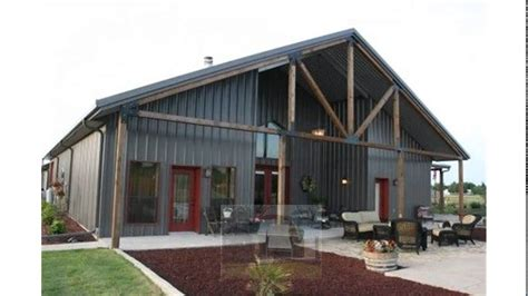 metal barn style homes barn residential steel buildings into the glass option