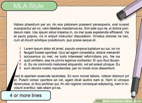 block quote mla 3 ways to format a block quote wikihow