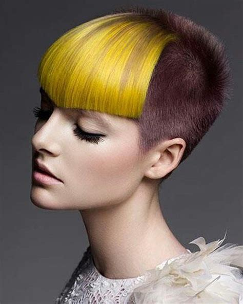 geometric hair on pinterest haircuts undercut and orange shorts best 20 dyed bangs ideas on pinterest crazy colour hair