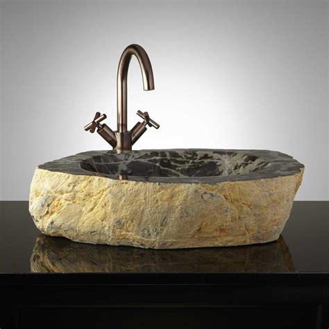 rustic vessel vanity rustic stone vessel signaturehardware com