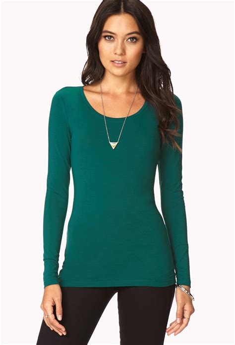 Cold And Fresh Shirt Kaos Putih Size S 3xl forever 21 basic sleeve in green lyst