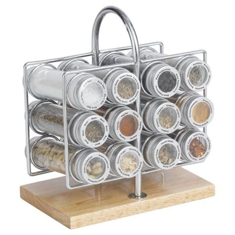 Spice Rack Tesco buy chrome and wood spice rack from our spice racks mills range tesco