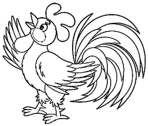 rooster printable coloring pages