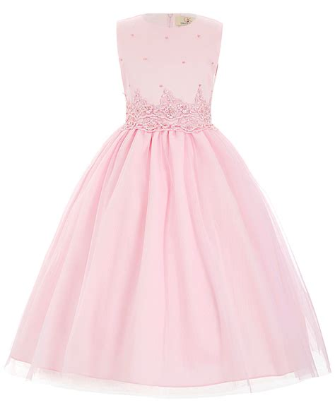 White Flower Dress Excellent Quality high quality flower dresses white pink pageant communion dresses infant