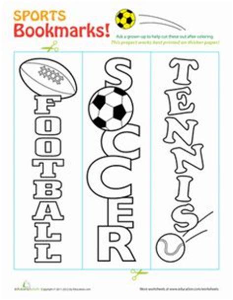 Free Printable Sports Bookmarks