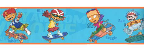 wwe wallpaper border for boys bedroom rocket power boys room wall paper border