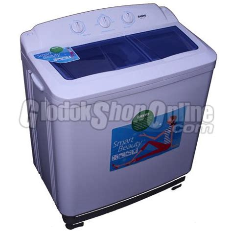 Mesin Cuci Sanyo Low Watt mesin cuci semi automatic sanyo sw 112ht
