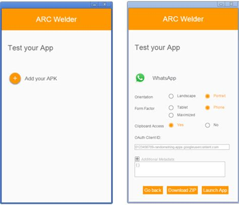 run android apps in chrome browser using arc welder