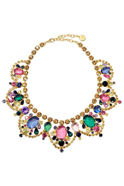 watercolor statement necklace by rj graziano for 30