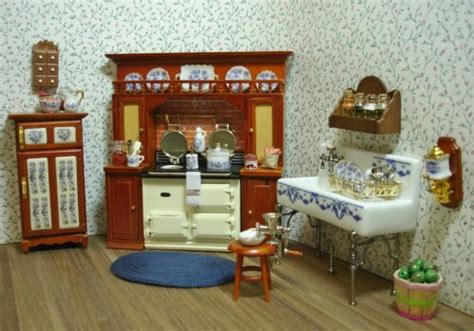 miniature dollhouse kitchen furniture amanda s decorated victorian kitchen dollhouse miniature