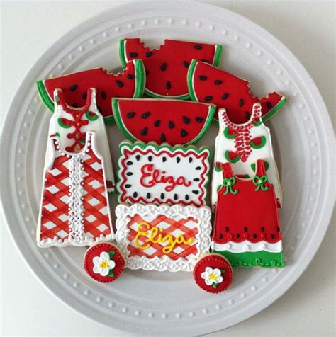 Summer Decorated Cookies by Watermelon Themed Decorated Cookies With Gingham And
