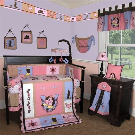 Custom Baby Bedding Western Cow Girl 13 Pcs Crib Bedding Western Crib Bedding