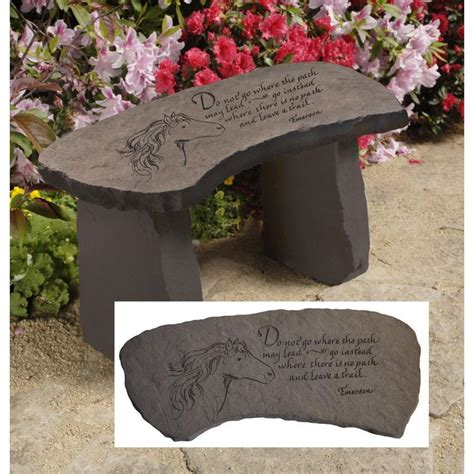stone memorial bench garden benches house home
