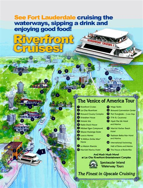 boat tour fort lauderdale fort lauderdale boat tour map oh the places you ll go