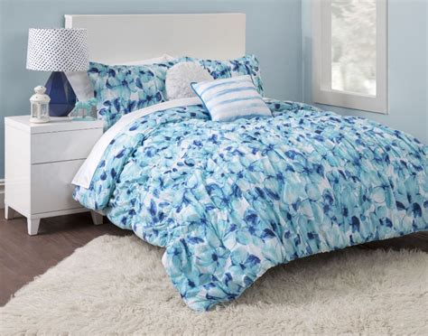 full comforters blue floral girls full queen comforter set flowers teen