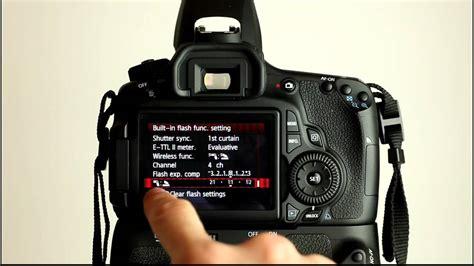 tutorial flash canon canon eos 60d tutorial video 3 part 1 flash control menu