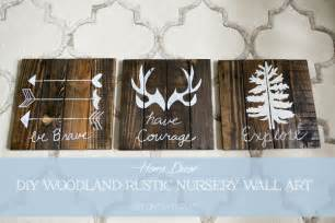 Wood Wall Decor Sayings Diy Rustic Woodland Boy Nursery Decor