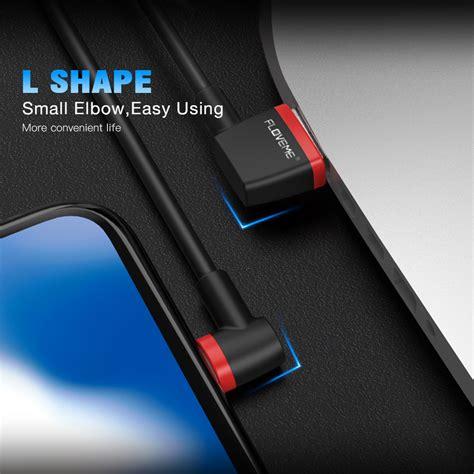 Floveme L Shape 2 In 1 Kabel Charger Lightning Micro Usb 1 8a 80cm floveme l shape kabel charger lightning 2 1a 1 meter black jakartanotebook