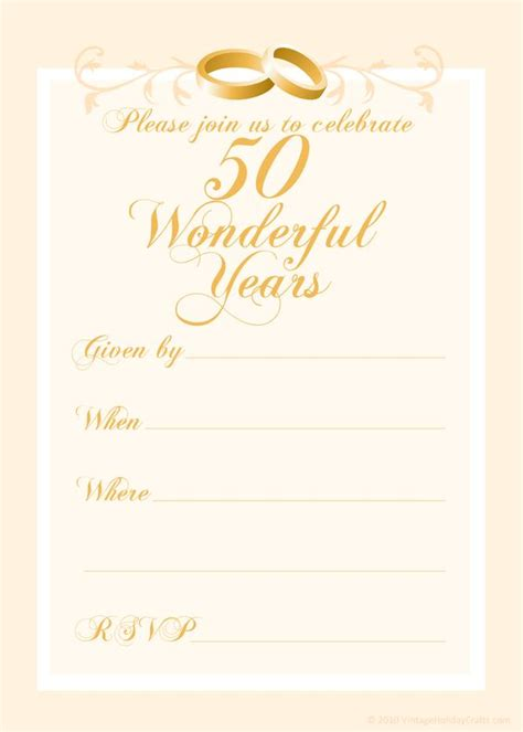 50th anniversary card template free 50th wedding anniversary invitations templates 50th