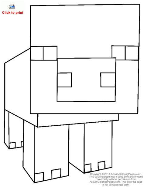 minecraft food coloring pages pig from minecraft coloring page color pages pinterest