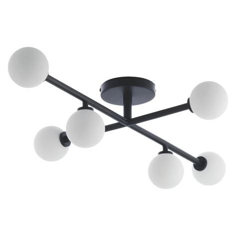 astrid black and white metal and glass ceiling light buy