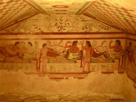 Italian Wall Murals file le tombe etrusche dipinte 08 jpg wikimedia commons