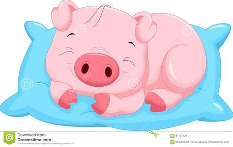 Free Barn Plans by Cute Cartoon Baby Pig Sleeping Stock Illustration