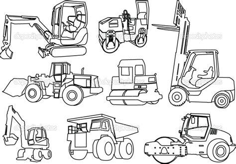 Construction Vehicles Coloring Pages Download And Print Construction Colouring Pages